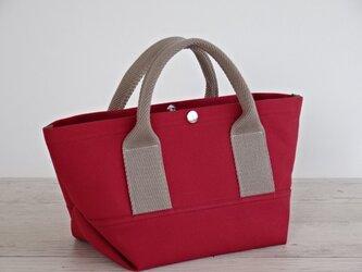 帆布 トート・大人カラーの ミニトート キャニオン レッド キャンバス バッグの画像