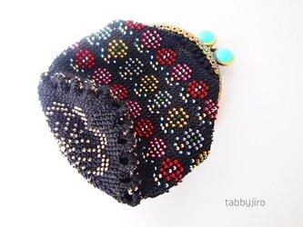 ビーズ編みがま口-アラベスクの画像