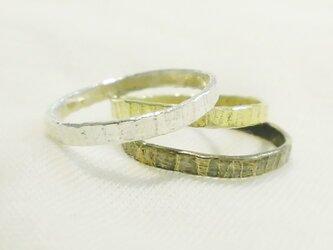 Line ring(シルバー)の画像
