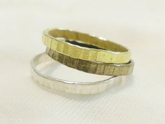 Line ring(真鍮)の画像