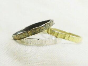 Line ring(真鍮古美)の画像