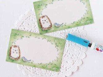 お昼寝ハリネズミ メッセージカード・10枚の画像
