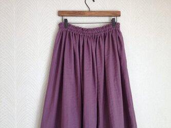 Wガーゼ(パープル) ロングスカートの画像