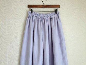 Wガーゼ(ラベンダー) ロングスカートの画像