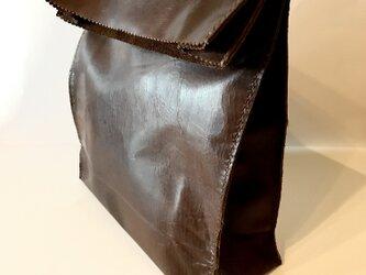 アンティーク紙袋風★クラッチバッグ【チョコ】の画像
