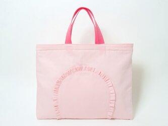 フリル レッスンバッグ ピンク Kidsの画像