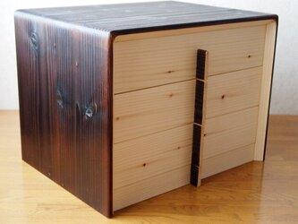 椴松(とどまつ)の家具 手箪笥 横三段小抽斗の画像