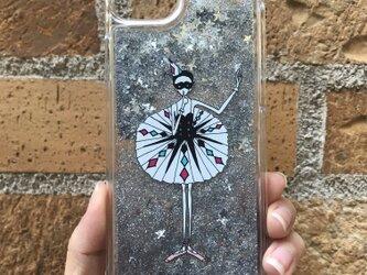(iPhone)アレルキナーダ グリッターケース(スター)の画像