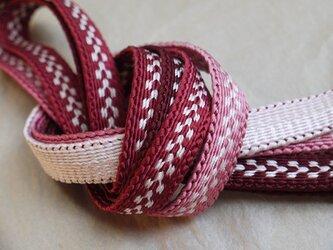 手組み正絹組紐【雁がね(3色)】110A018002の画像