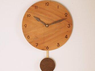 木製 振り子時計 ケヤキ材3の画像
