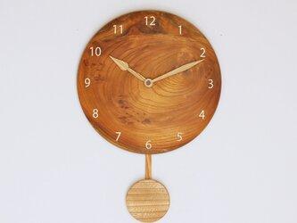 木製 振り子時計 ケヤキ材5の画像