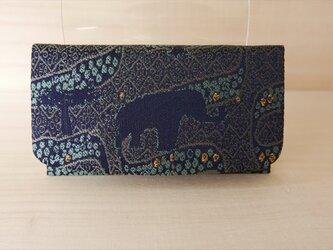 西陣織 金襴 名刺入れ アフリカ紋様Bの画像