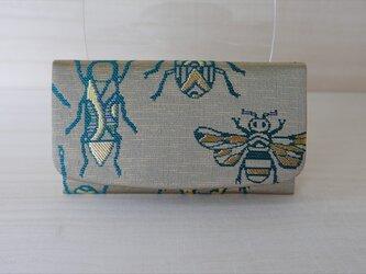 西陣織 金襴 名刺入れ 虫紋様Aの画像