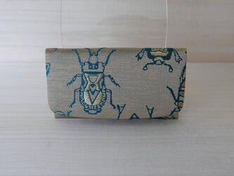西陣織 金襴 名刺入れ 虫紋様Bの画像