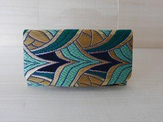西陣織 金襴 名刺入れ 燕矢紋様Cの画像