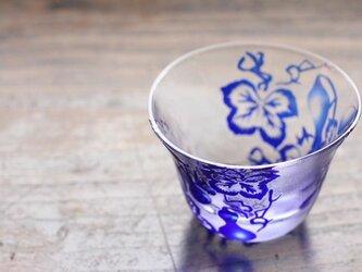【再販】ガラス ぐい呑み・お猪口「六瓢息災」瑠璃の画像