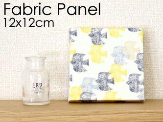 12x12cmちいさなファブリックパネル【黄色い渡り鳥のファブリックパネル】イエローの画像