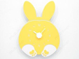 【ウォールクロック】CHUBBY HIP - ウサギの画像