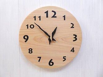 ヒノキの時計 30センチ 099s 文字盤黒の画像
