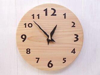 ヒノキの時計 30センチ 102s 文字盤茶色の画像