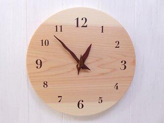 ヒノキの時計 30センチ 106s 文字盤茶色の画像