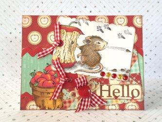 りんごとマウスの多目的カードの画像