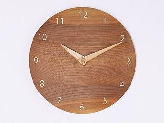 木製 掛け時計 丸 ブラックウォールナット材12の画像