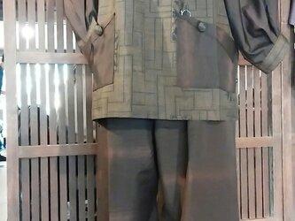 大島紬 上着とパンツの画像