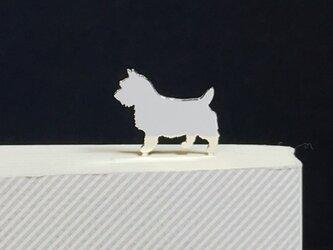 Dog-33 BookMarkシルバーブックマーク しおり ノーリッチテリア<受注制作>の画像