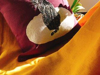 手刺繍 MPKクッションカバー(MEOCUSH108)の画像