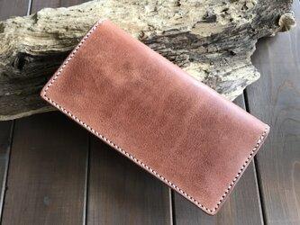 ハーマンオーク レザーを使った長財布の画像
