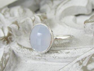 ブルーカルセドニー・リング(silver925)の画像