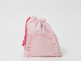 フリル コップ袋 ピンク Kidsの画像