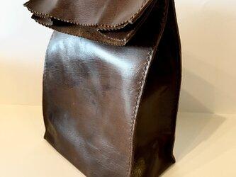 アンティーク紙袋風★バッグインバッグ【チョコ】の画像