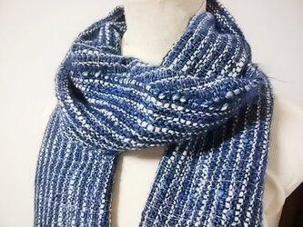 手織りマフラーno.3の画像