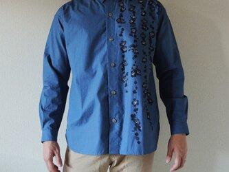 メンズ・ギンガムチェックシャツ <枝垂れ梅> の画像