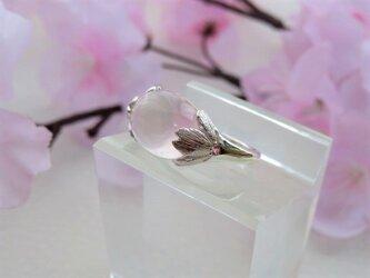 シルバー ローズクォーツ/ピンクトルマリン リング ~桜~ *受注制作*の画像