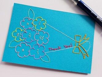 花束のThank Youカードの画像