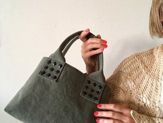 canvas tote bag mini (khaki)の画像