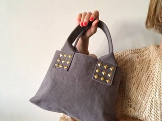 canvas tote bag mini (gray)の画像