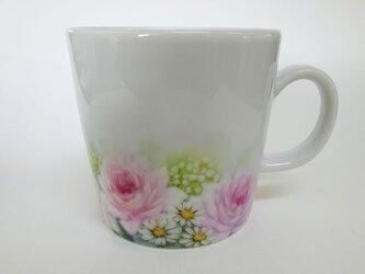 花のマグカップA(手描き)の画像