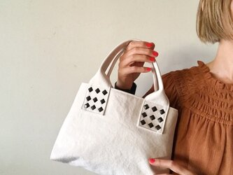 canvas tote bag mini (white)の画像