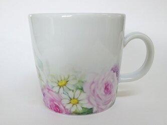 花のマグカップB(手描き)の画像