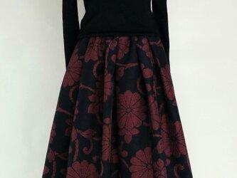 紬のリメイクスカートの画像