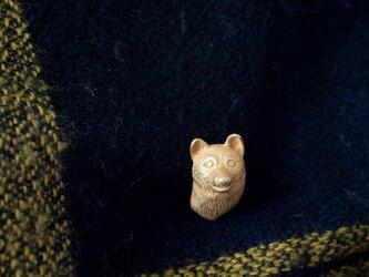 柴犬の犬ピンブローチ 真鍮の画像