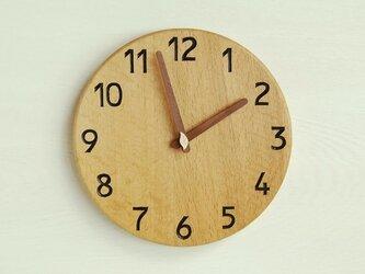 おか様ご注文分 直径28cm 掛け時計 オーク【1801】の画像