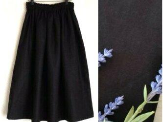 育てるリネン(ブラック) ロングスカートの画像