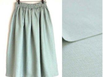 育てるリネン(淡グリーン) ロングスカートの画像