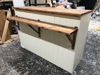 hotaru 新商品 レジカウンター 棚 キャビネット キッチンカウンター オーダー可 天然木 無垢材の画像