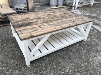 hotaru 新商品 ローテーブル カリフォルニア風 サーフ系 カントリー 海 オーダー可 無垢材の画像